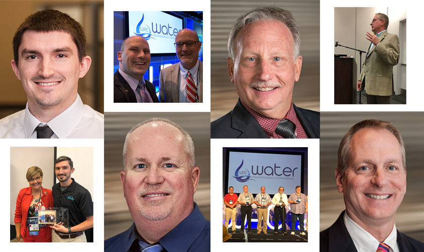 We're recognizing GRW employees who received awards and/or recognition during the 2019 Water Professionals Conference held August 19-21 in Louisville. Shown with a few conference activity shots are (from left) Josh Flanery, Scott Clark, Robert Bates, and Brad Montgomery.