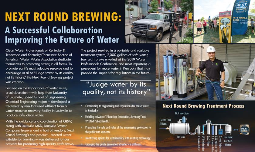 Next Round Brewing is a collaborative project entered in the 2021 ACEC Engineering Excellence Awards Competition. This image shows a portion of the poster used as part of the entry.
